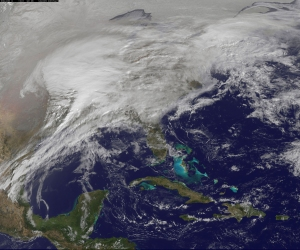 photo snow storm february 2011 nasa