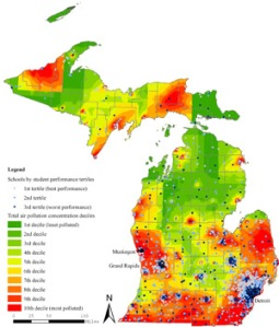 photo michigan air pollution school report