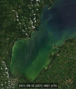 photo saginaw bay michigan great lakes satellite