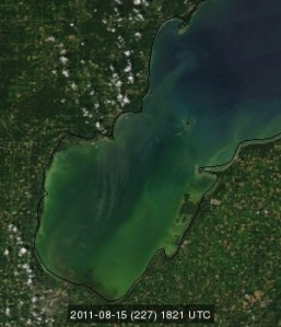 photo saginaw bay michigan great lakes satellite