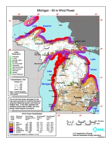 photo map wind energy michigan nrel