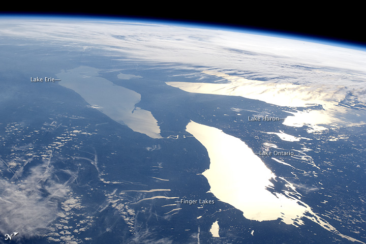 great lakes sunglint nasa