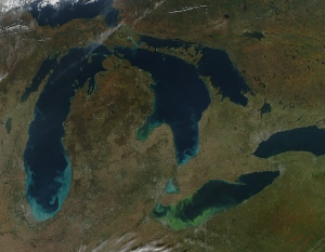 photo great lakes erie algae muck