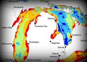great lakes gleam map saginaw bay