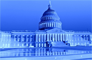 us capitol building turned blue for great lakes days