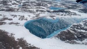 greenland frozen meltpond