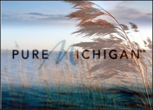 pure michigan logo phragmites plant