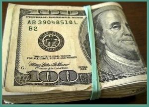 wad of money 100s