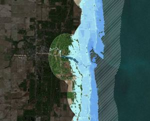 pinconning great lakes water levels noaa viewer