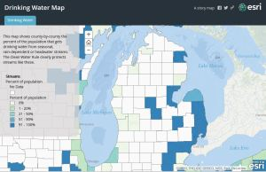 epa esri map drinking water michigan clean water rule