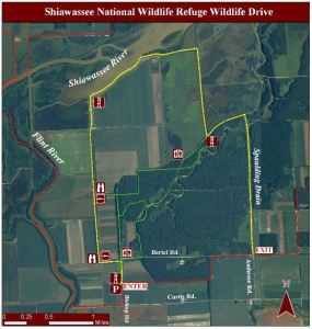 map wildlife drive shiawassee