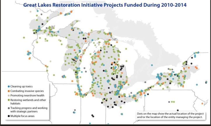 epa great lakes initiative report to congress saginaw bay map