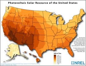 solar map us