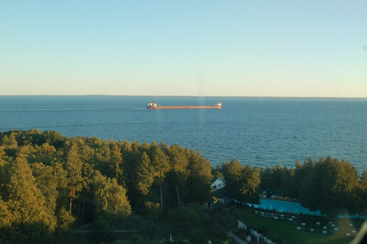 ship great lakes straits of mackinac michigan huron