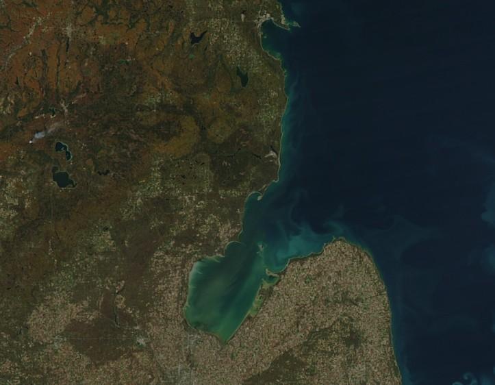 saginaw bay algae nasa