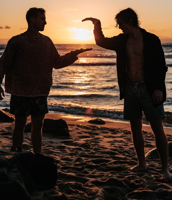 beach sun hand clap